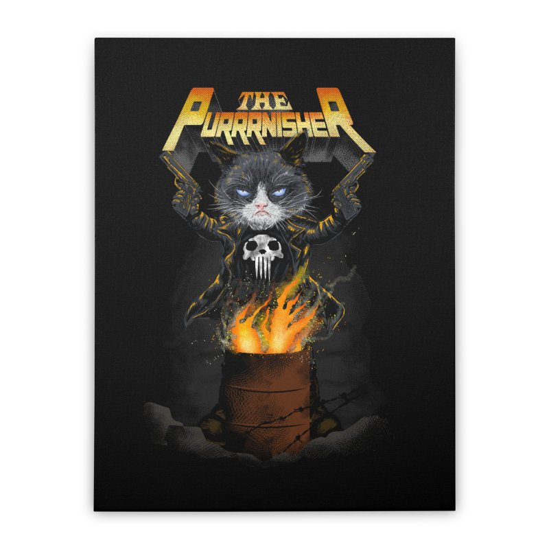 The Purrrnisher Home Stretched Canvas by kooky love's Artist Shop