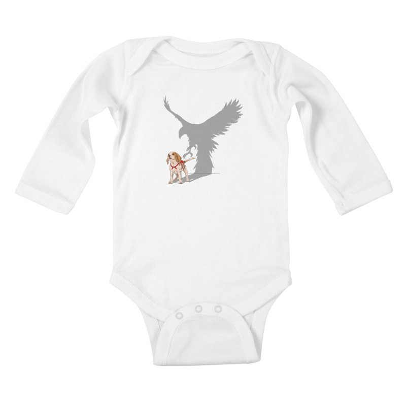 Be Eagle Kids Baby Longsleeve Bodysuit by kooky love's Artist Shop