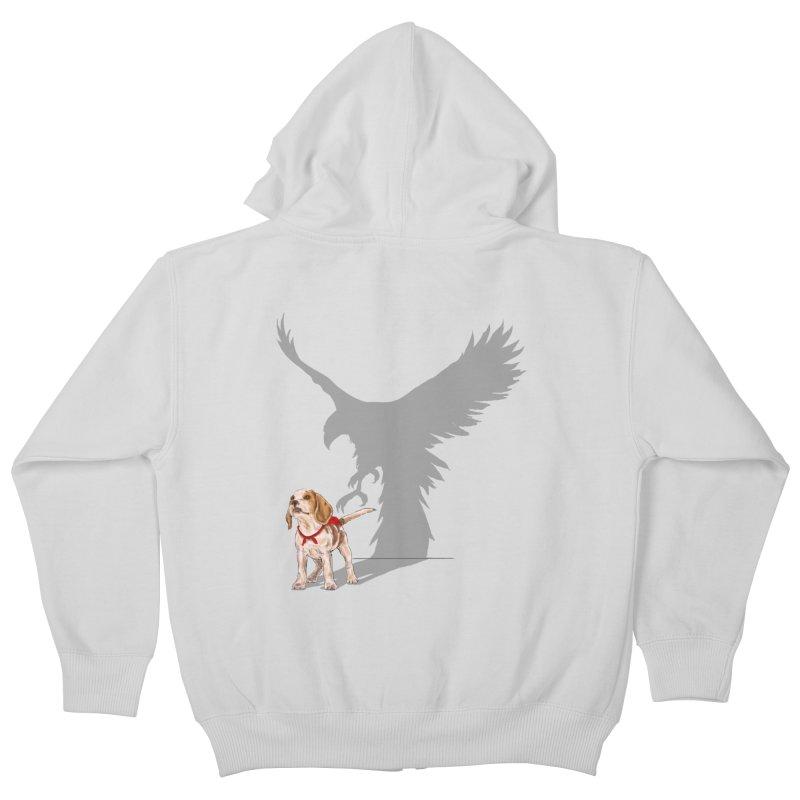 Be Eagle Kids Zip-Up Hoody by kooky love's Artist Shop