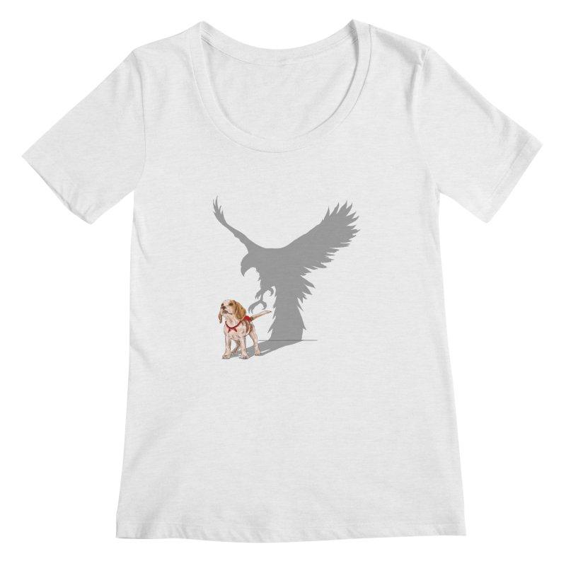 Be Eagle Women's Scoopneck by kooky love's Artist Shop