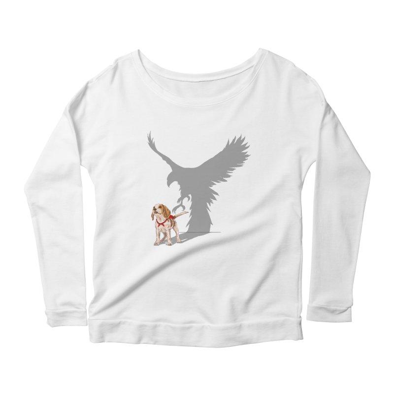 Be Eagle Women's Longsleeve Scoopneck  by kooky love's Artist Shop