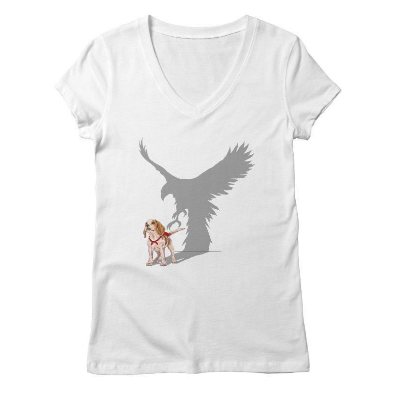Be Eagle Women's V-Neck by kooky love's Artist Shop