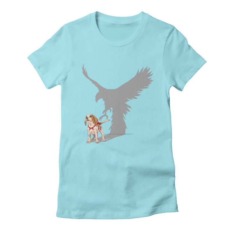 Be Eagle Women's Fitted T-Shirt by kooky love's Artist Shop