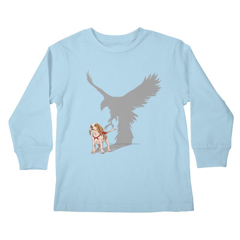Be Eagle Kids Longsleeve T-Shirt by kooky love's Artist Shop
