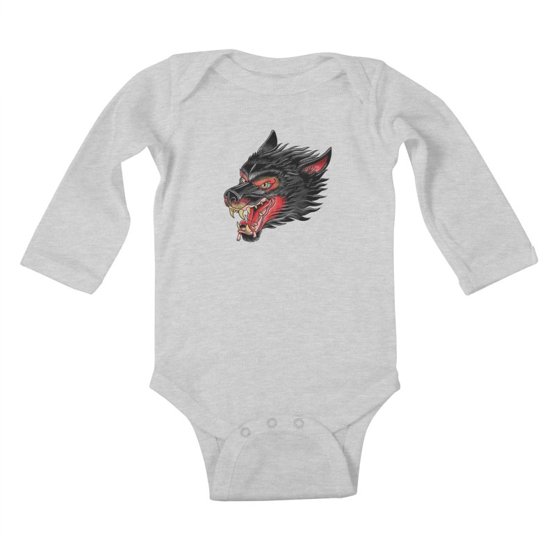 Its tongue is her hoodie Kids Baby Longsleeve Bodysuit by kooky love's Artist Shop
