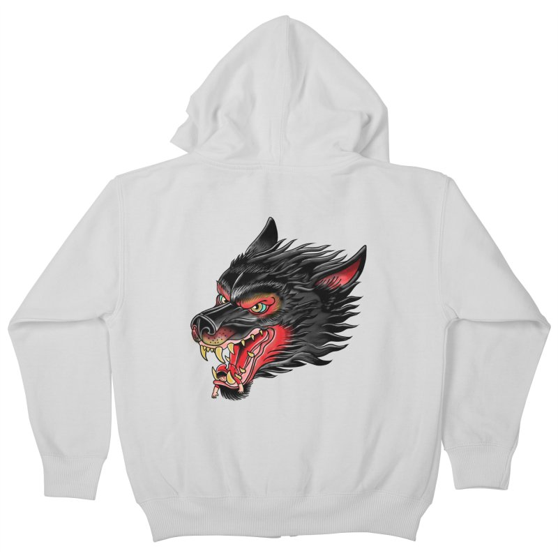 Its tongue is her hoodie Kids Zip-Up Hoody by kooky love's Artist Shop