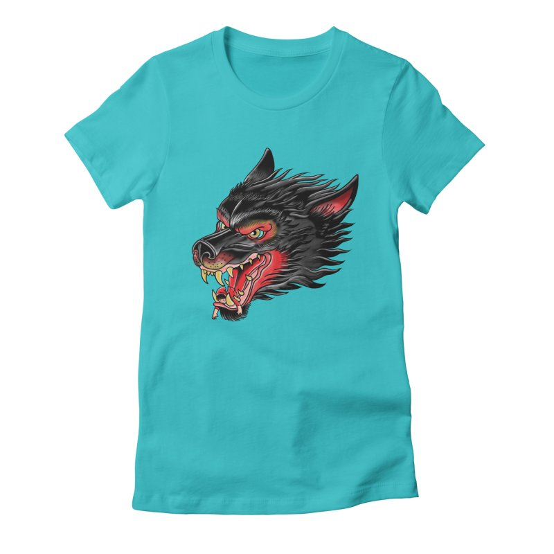 Its tongue is her hoodie Women's Fitted T-Shirt by kooky love's Artist Shop