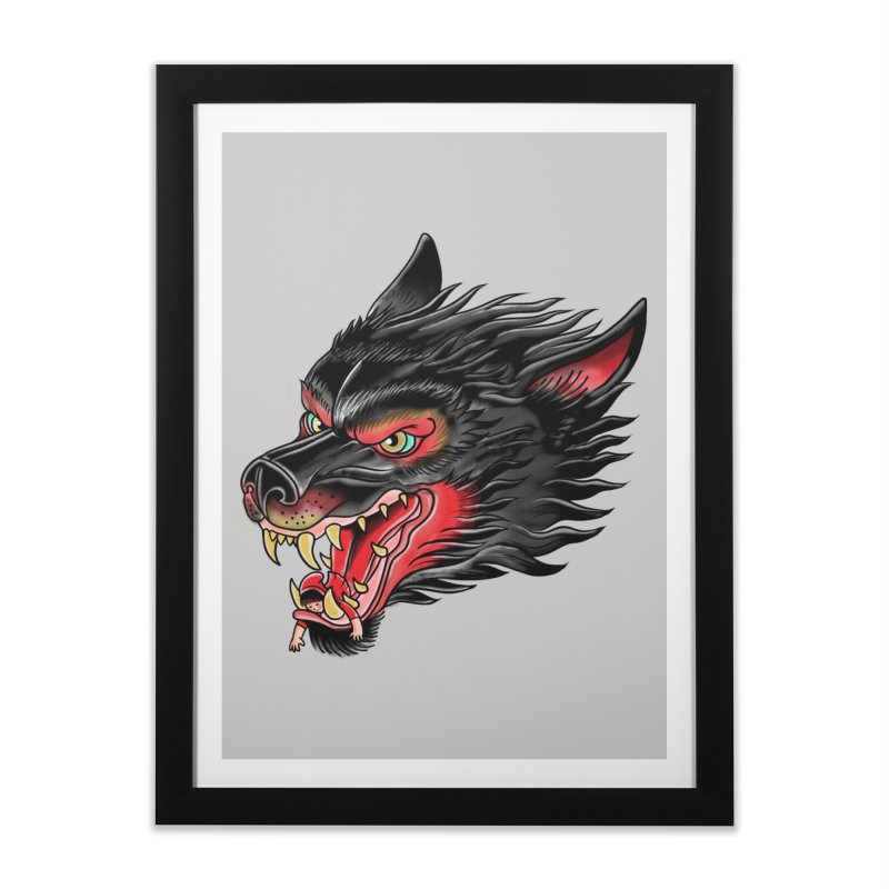 Its tongue is her hoodie Home Framed Fine Art Print by kooky love's Artist Shop