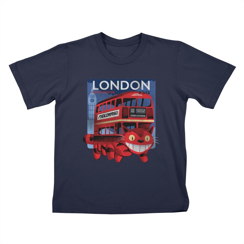 London Nekobasu Kids Toddler T-Shirt by kooky love's Artist Shop