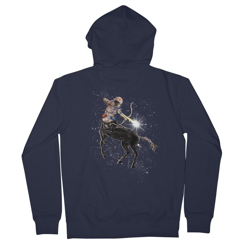 Horsescope Men's French Terry Zip-Up Hoody by kooky love's Artist Shop