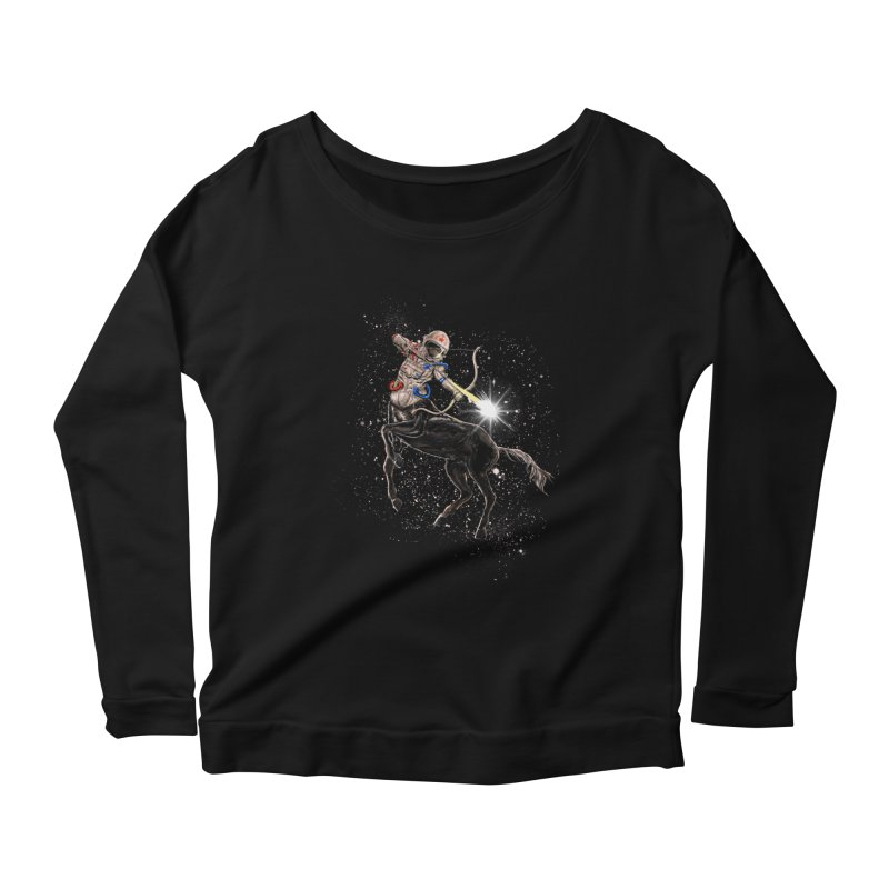 Horsescope Women's Scoop Neck Longsleeve T-Shirt by kooky love's Artist Shop