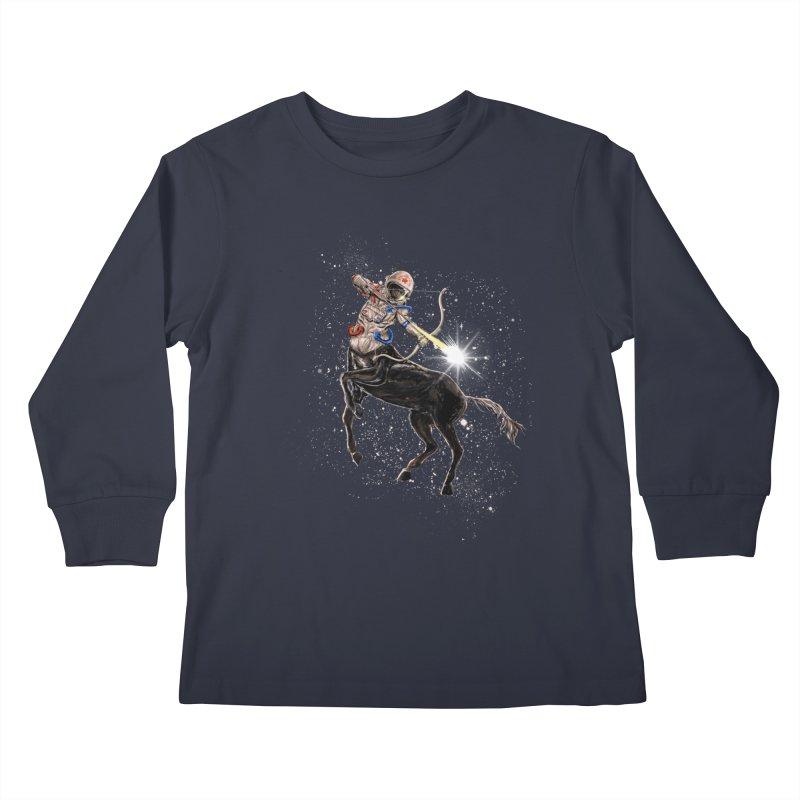 Horsescope Kids Longsleeve T-Shirt by kooky love's Artist Shop