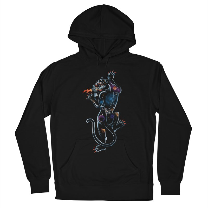 Space Panther Women's French Terry Pullover Hoody by kooky love's Artist Shop