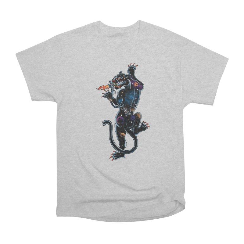 Space Panther Men's Heavyweight T-Shirt by kooky love's Artist Shop