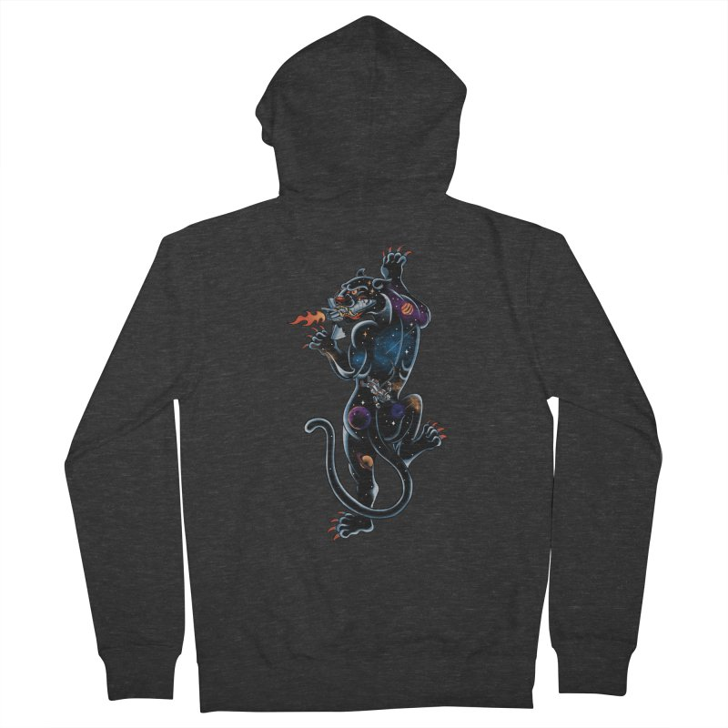 Space Panther Men's French Terry Zip-Up Hoody by kooky love's Artist Shop