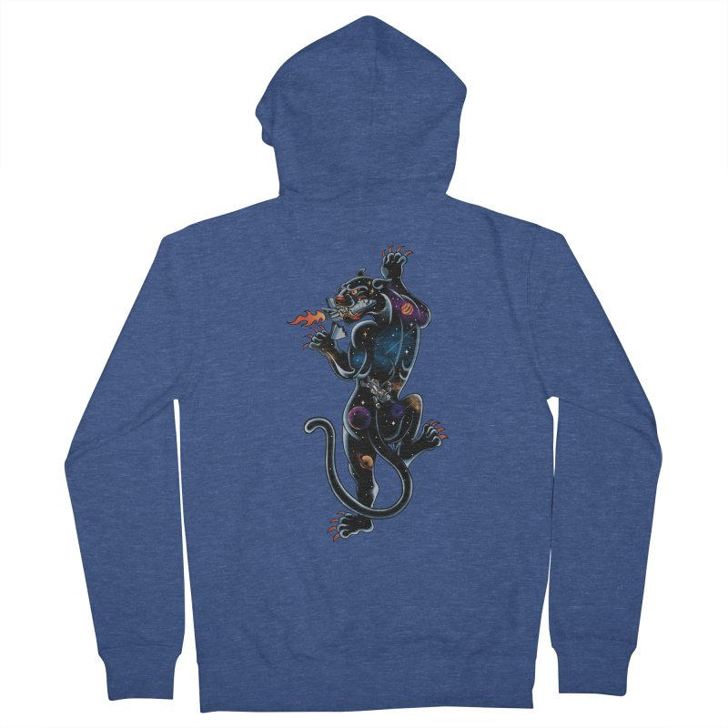 Space Panther Men's Zip-Up Hoody by kooky love's Artist Shop