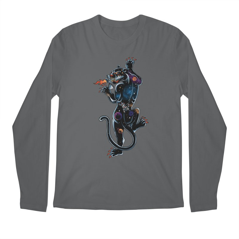 Space Panther Men's Regular Longsleeve T-Shirt by kooky love's Artist Shop
