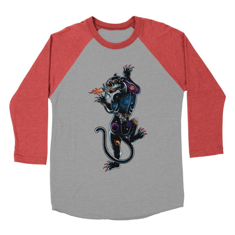 Space Panther Women's Baseball Triblend Longsleeve T-Shirt by kooky love's Artist Shop