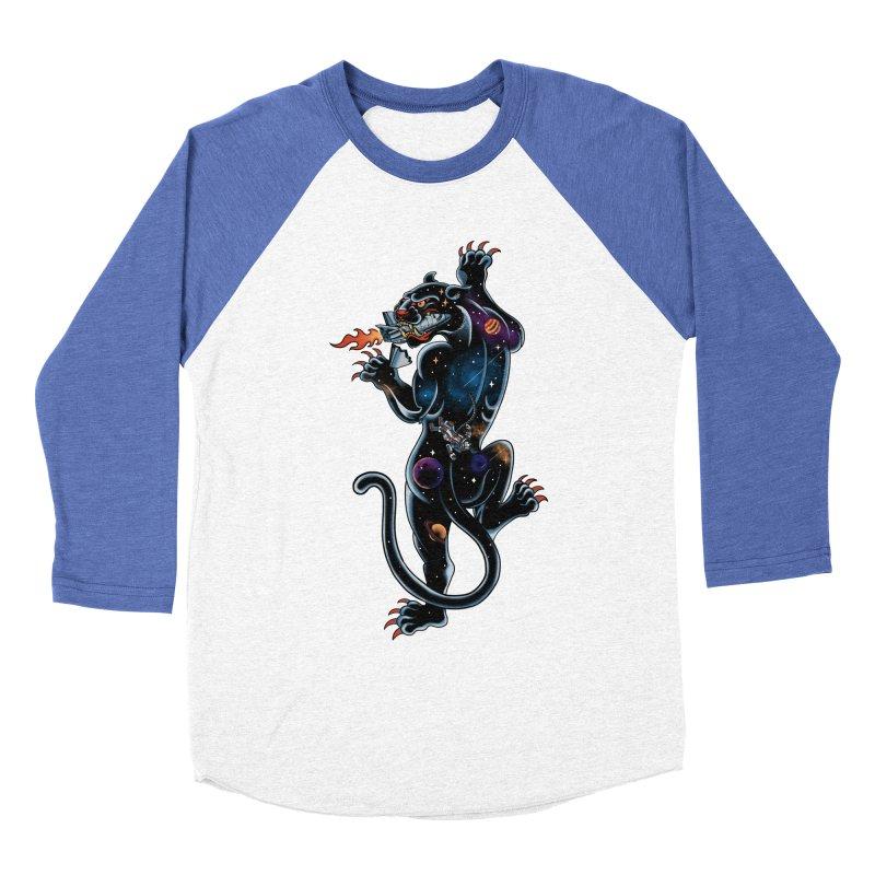 Space Panther Men's Baseball Triblend T-Shirt by kooky love's Artist Shop