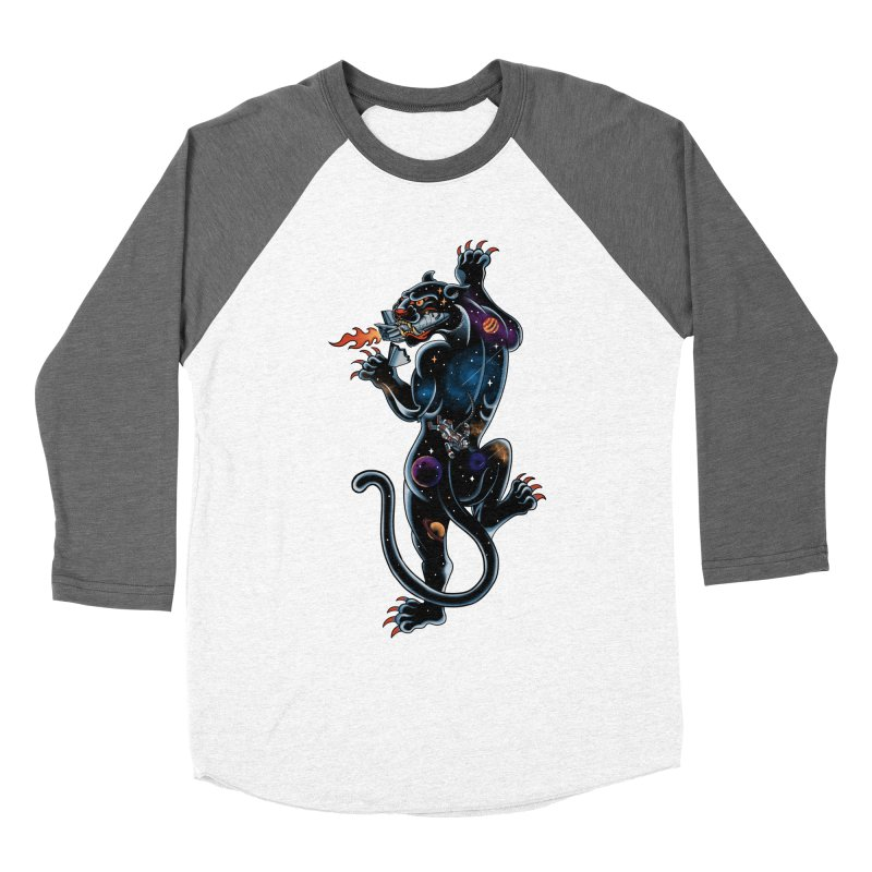 Space Panther Men's Baseball Triblend Longsleeve T-Shirt by kooky love's Artist Shop