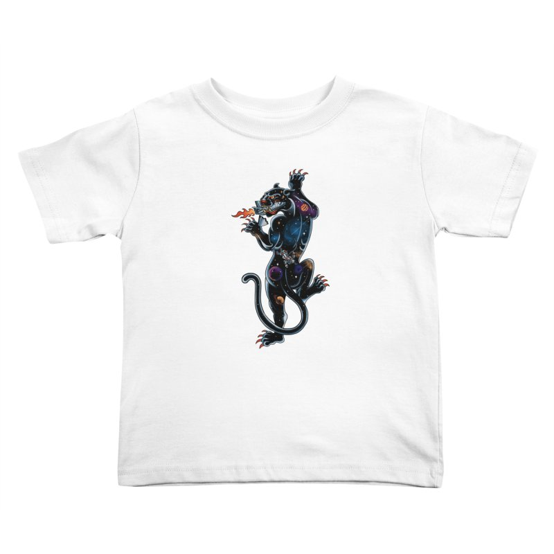 Space Panther Kids Toddler T-Shirt by kooky love's Artist Shop