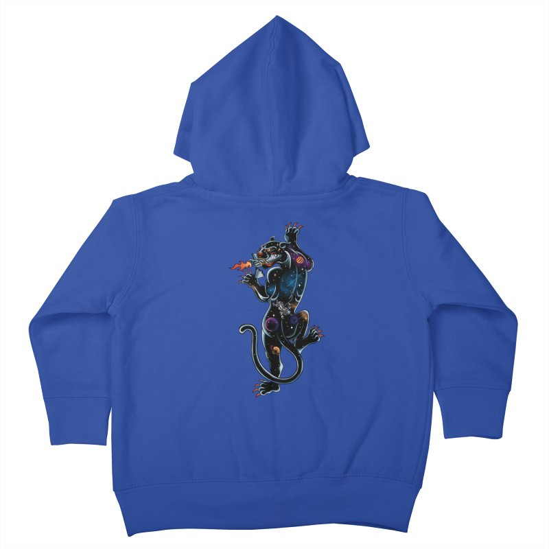 Space Panther Kids Toddler Zip-Up Hoody by kooky love's Artist Shop