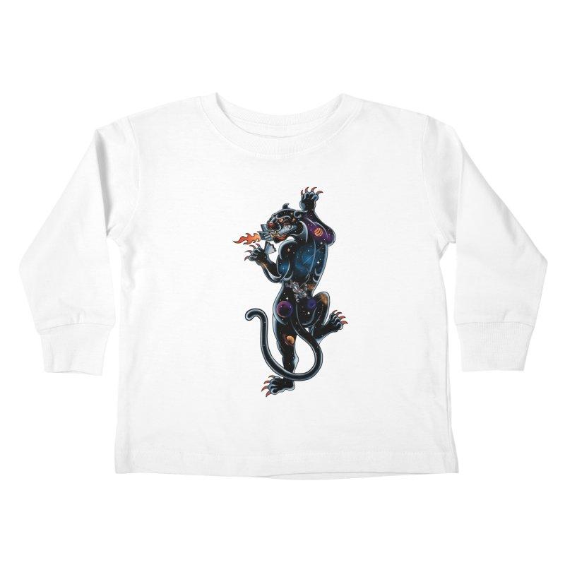 Space Panther Kids Toddler Longsleeve T-Shirt by kooky love's Artist Shop
