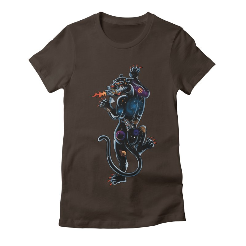 Space Panther Women's Fitted T-Shirt by kooky love's Artist Shop
