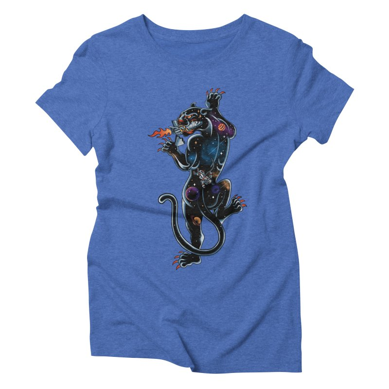 Space Panther Women's Triblend T-Shirt by kooky love's Artist Shop