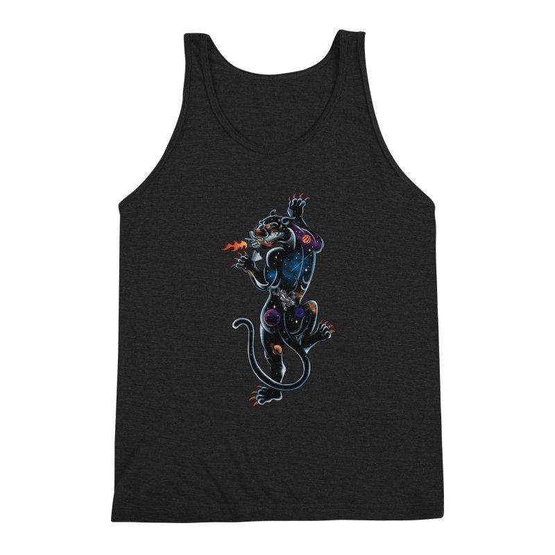 Space Panther Men's Triblend Tank by kooky love's Artist Shop