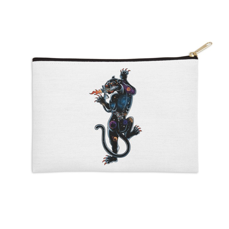 Space Panther Accessories Zip Pouch by kooky love's Artist Shop