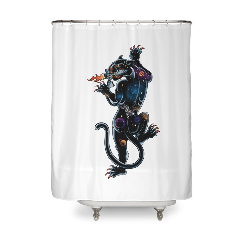 Space Panther Home Shower Curtain by kooky love's Artist Shop
