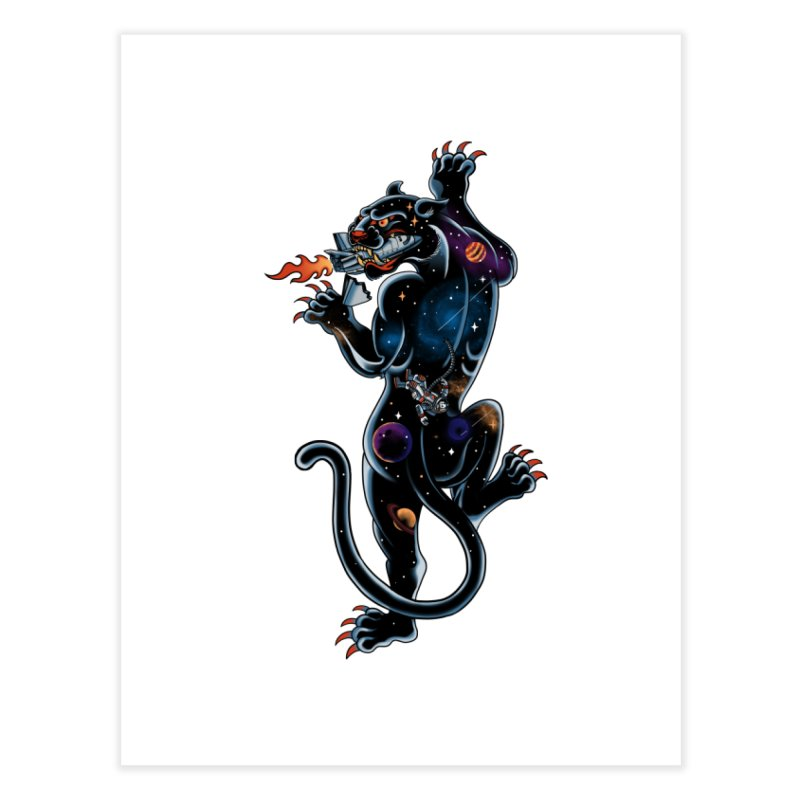 Space Panther Home Fine Art Print by kooky love's Artist Shop