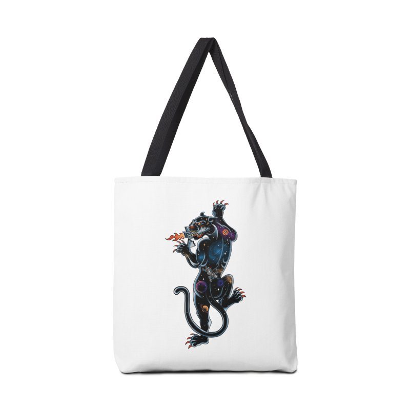 Space Panther Accessories Bag by kooky love's Artist Shop