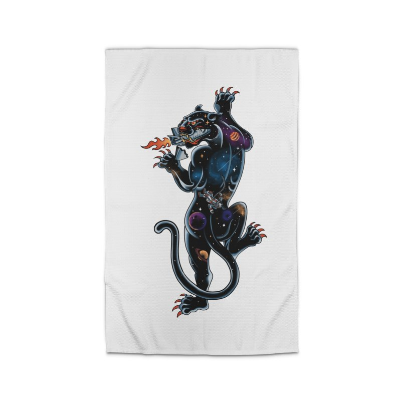 Space Panther Home Rug by kooky love's Artist Shop