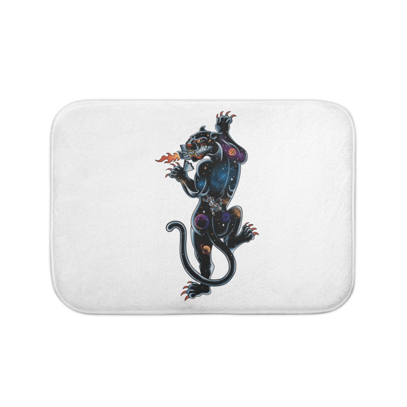 Space Panther Home Bath Mat by kooky love's Artist Shop