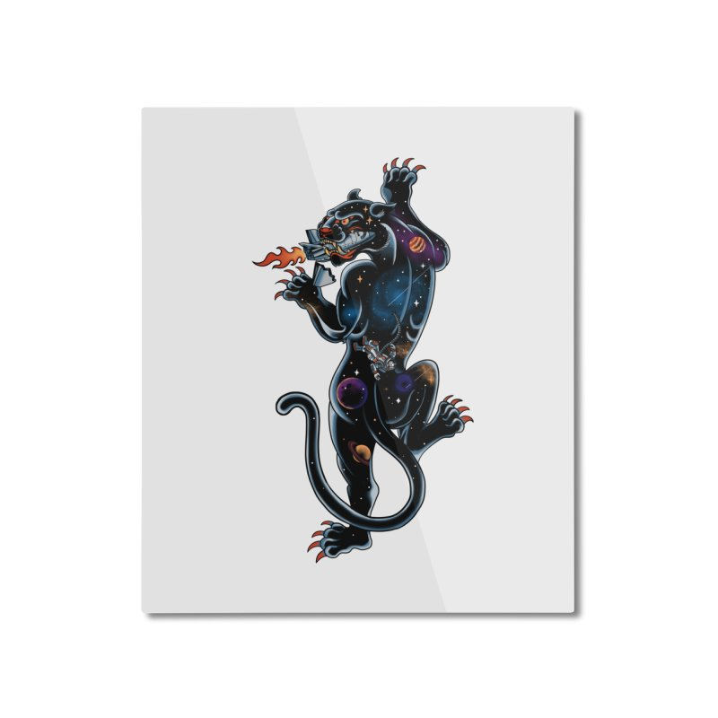 Space Panther Home Mounted Aluminum Print by kooky love's Artist Shop