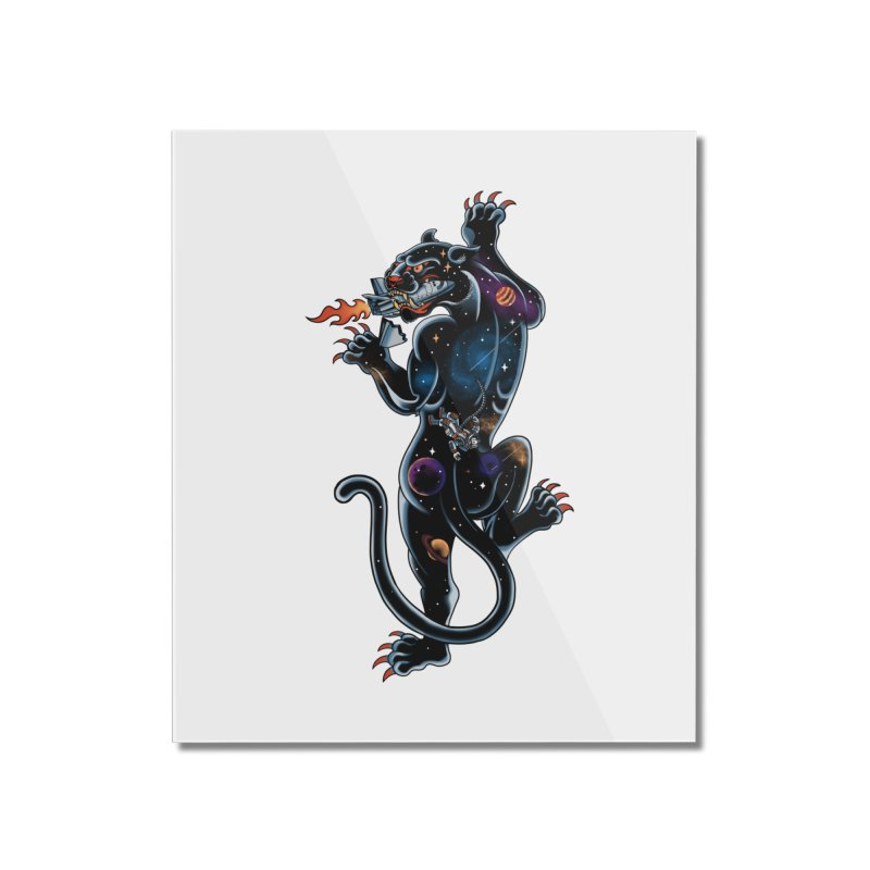Space Panther Home Mounted Acrylic Print by kooky love's Artist Shop