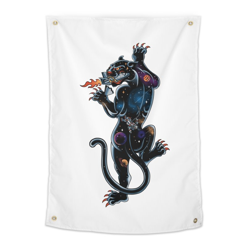 Space Panther Home Tapestry by kooky love's Artist Shop