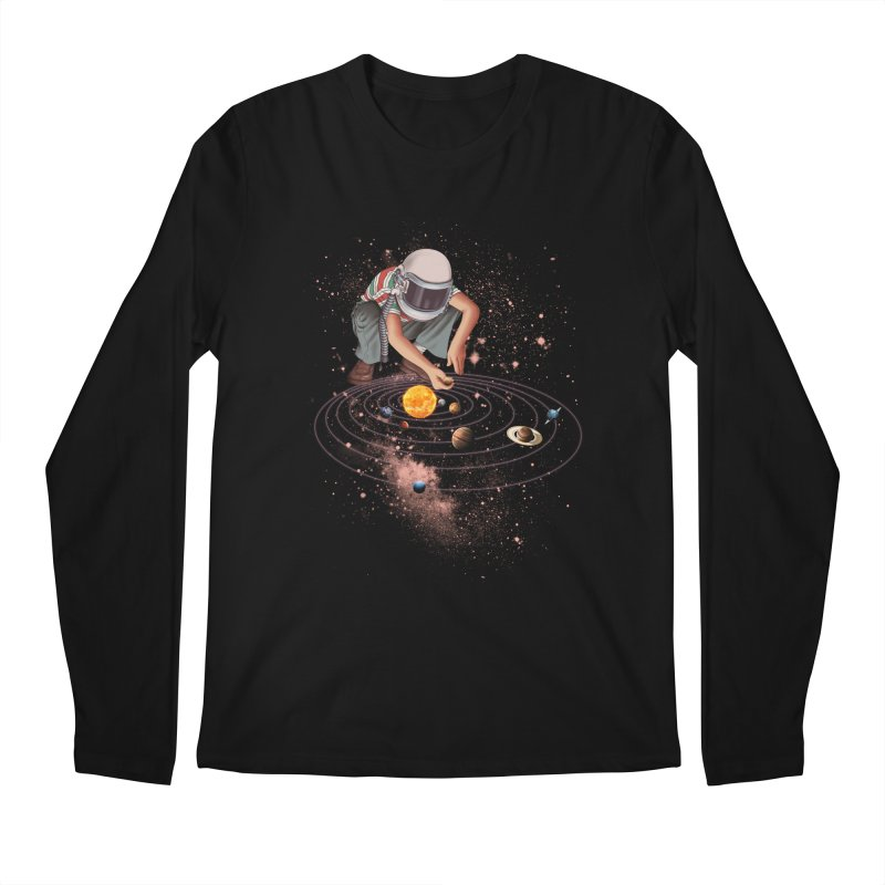 Marble Planet Men's Longsleeve T-Shirt by kooky love's Artist Shop
