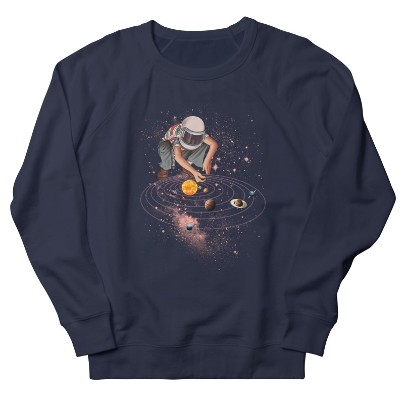 Marble Planet Women's French Terry Sweatshirt by kooky love's Artist Shop