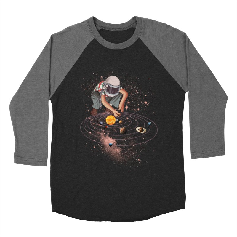 Marble Planet Men's Baseball Triblend T-Shirt by kooky love's Artist Shop