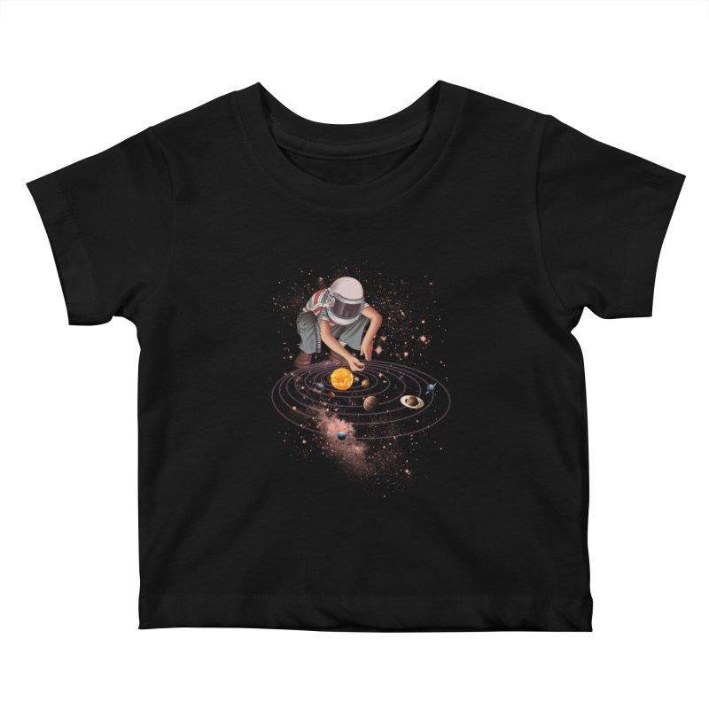 Marble Planet Kids Baby T-Shirt by kooky love's Artist Shop