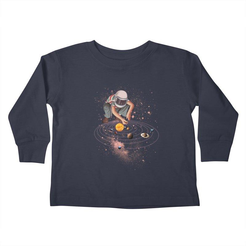 Marble Planet Kids Toddler Longsleeve T-Shirt by kooky love's Artist Shop