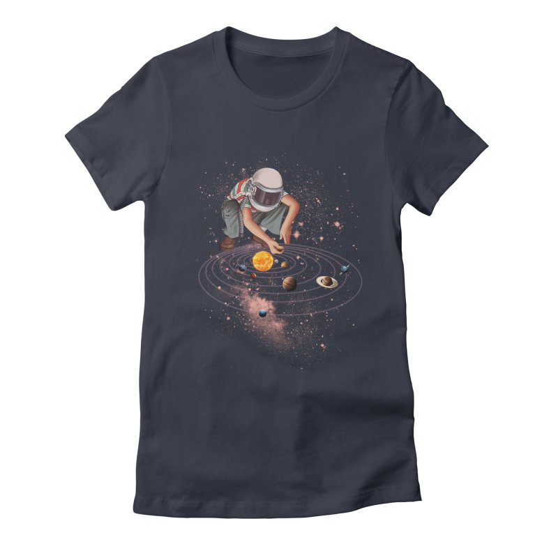 Marble Planet Women's Fitted T-Shirt by kooky love's Artist Shop