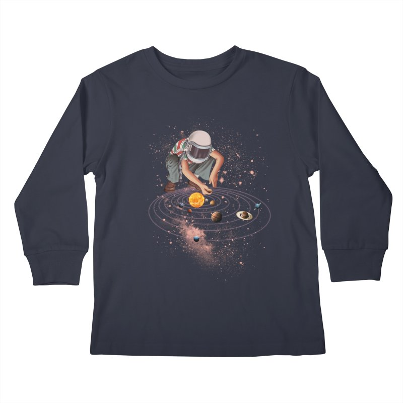 Marble Planet Kids Longsleeve T-Shirt by kooky love's Artist Shop