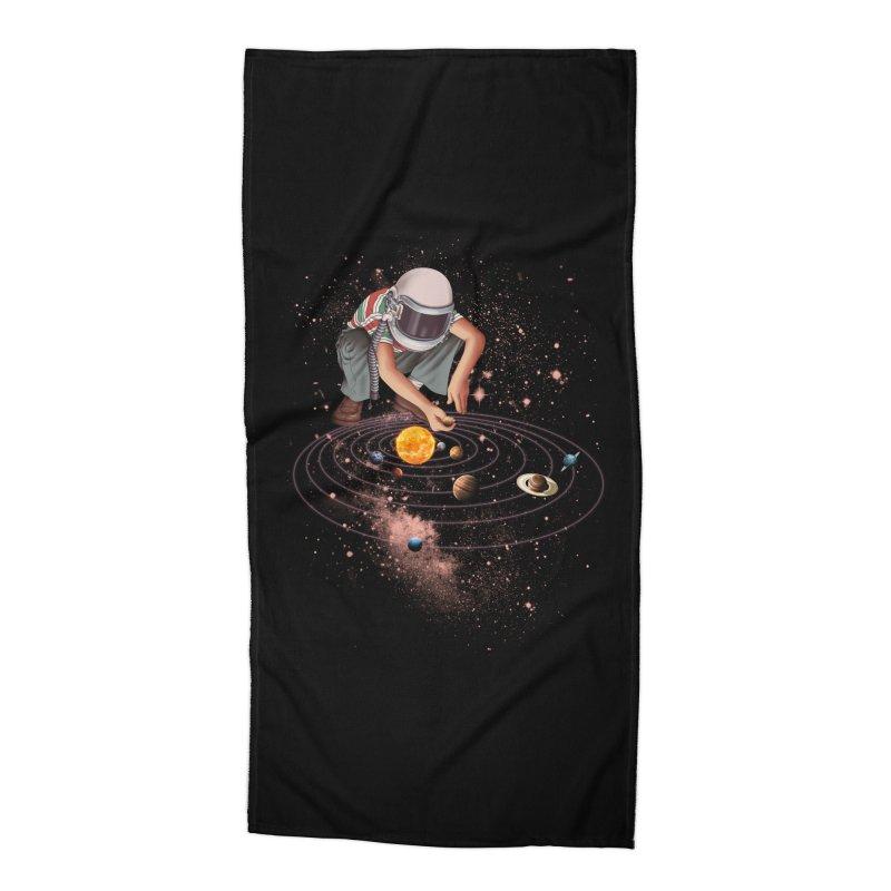 Marble Planet Accessories Beach Towel by kooky love's Artist Shop