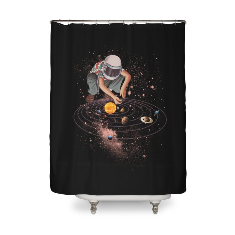 Marble Planet Home Shower Curtain by kooky love's Artist Shop