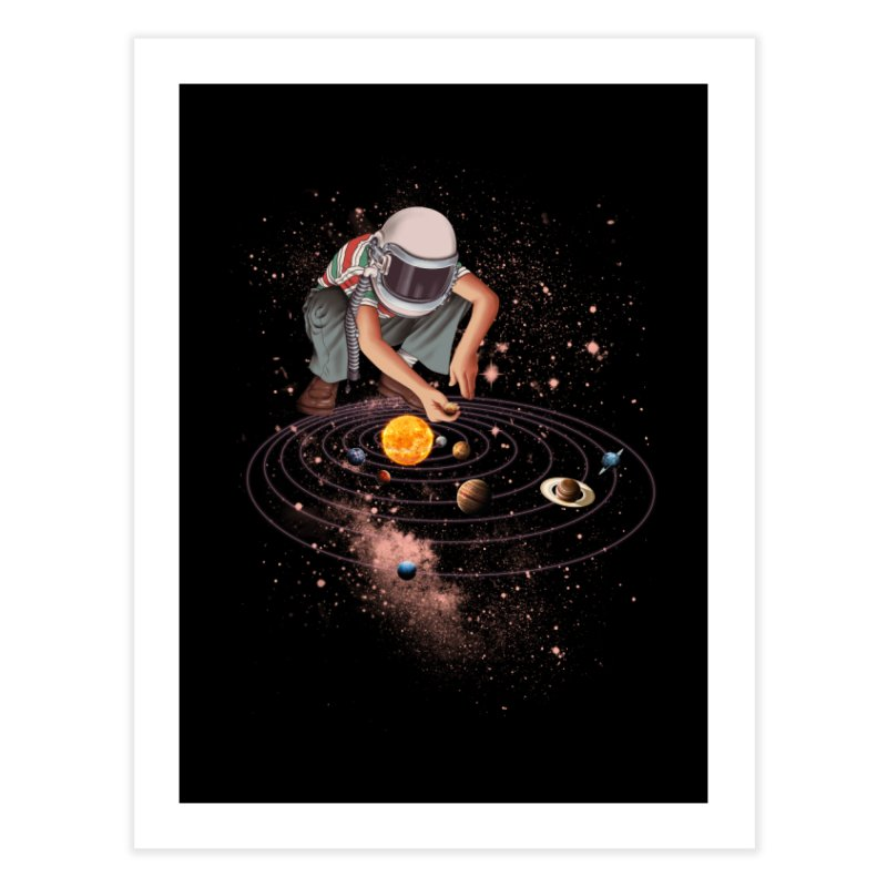 Marble Planet Home Fine Art Print by kooky love's Artist Shop