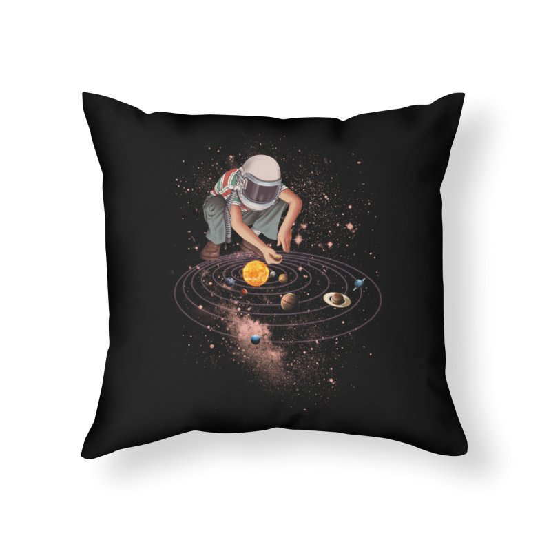 Marble Planet Home Throw Pillow by kooky love's Artist Shop